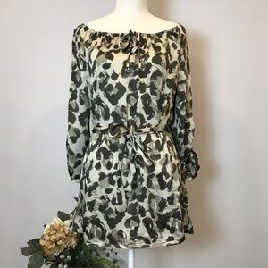 MICHAEL Michael Kors Blurred Animal Print Tunic